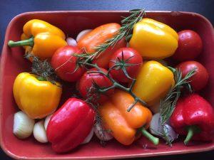Geroosterde groente met couscous